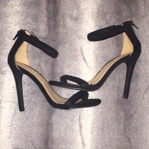 Charlotte Russe Black Strappy Heels
